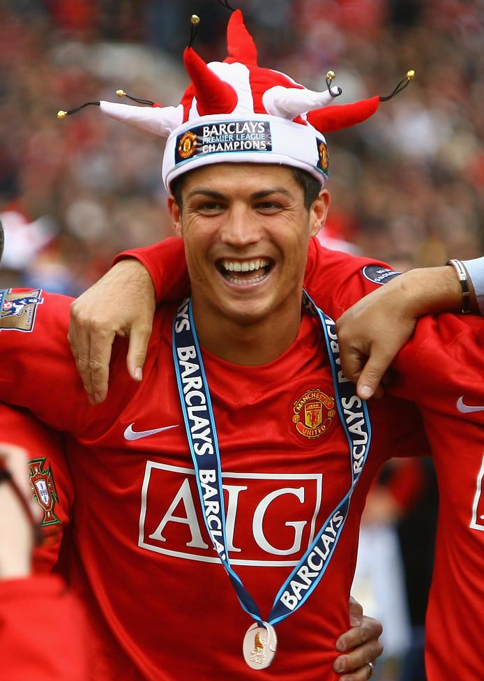 Cristiano Ronaldo na het winnen van de Premier League in 2009
