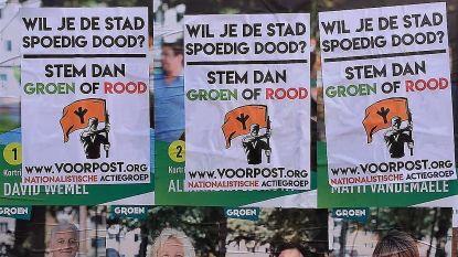 """""""Wil je de stad spoedig dood? Stem dan groen of rood"""": affiches van Groen, sp.a en PVDA in Kortrijk overplakt door Voorpost"""