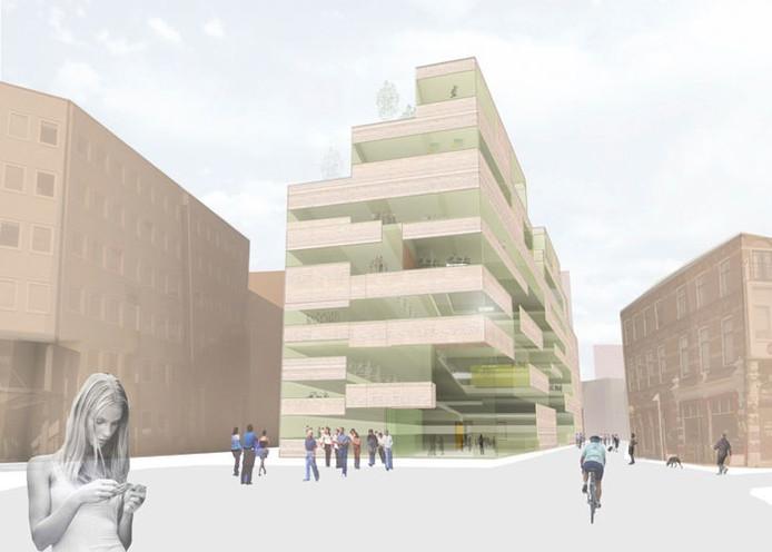 Het Historisch Museum Arnhem zal op gaan in het Erfgoedcentrum. Dat wordt gevestigd in het Kenniscluster (artist impression).