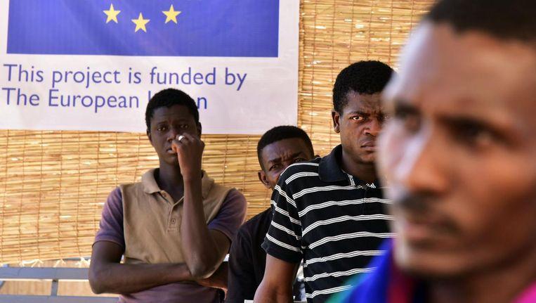 Migranten uit Libië worden teruggestuurd. Beeld afp
