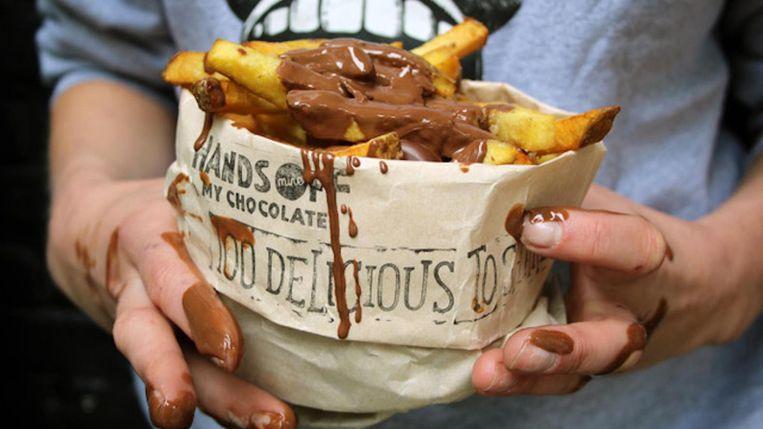 'Om kort te gaan: chapeau voor de drang tot innoveren,' aldus Kees van Unen. Beeld Hands Off My Chocolate Friet