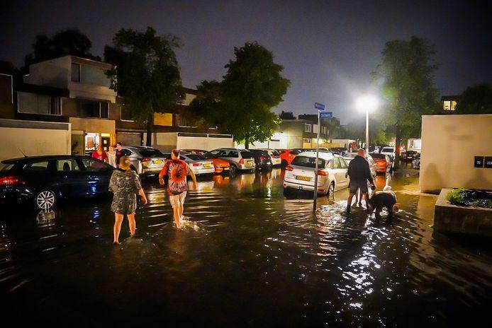 Noodweer in Eindhoven vrijdagavond.