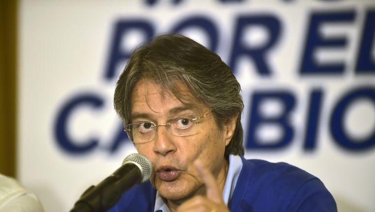 De conservatieve presidentskandidaat Guillermo Lasso.
