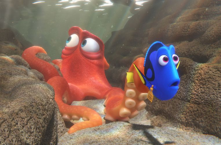Hank (l) en Dory. Beeld Pixar