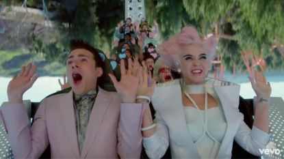 Vlaming heeft tijd van zijn leven met Katy Perry in achtbaan