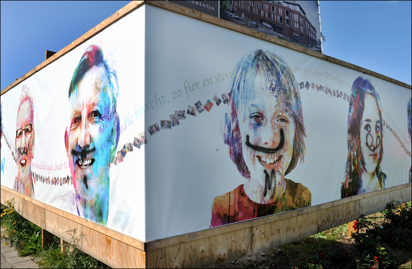 Een aantal portretten van Mirso doorstond de tentoonstelling niet ongeschonden in Gennep.