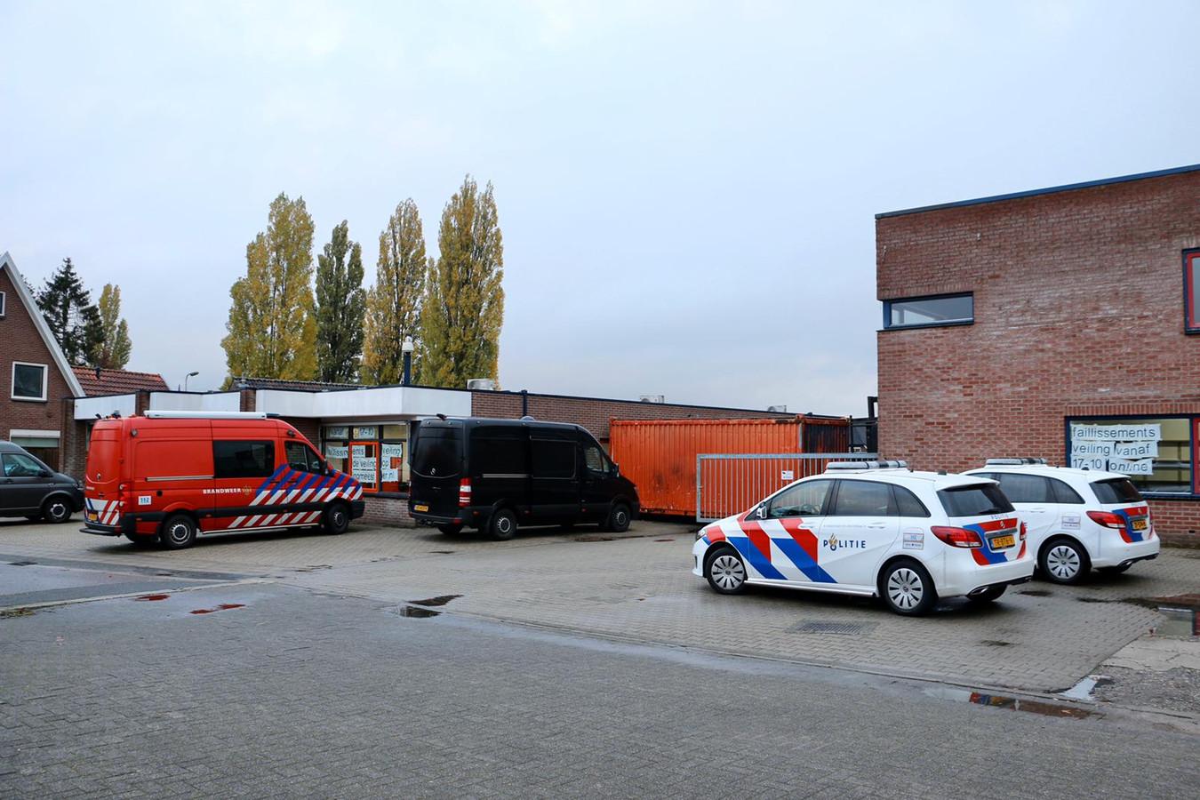 De ontmanteling van het drugslab in november vorig jaar