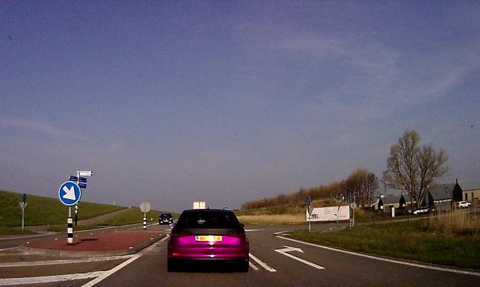 De huidige kruising op de Oesterdam.