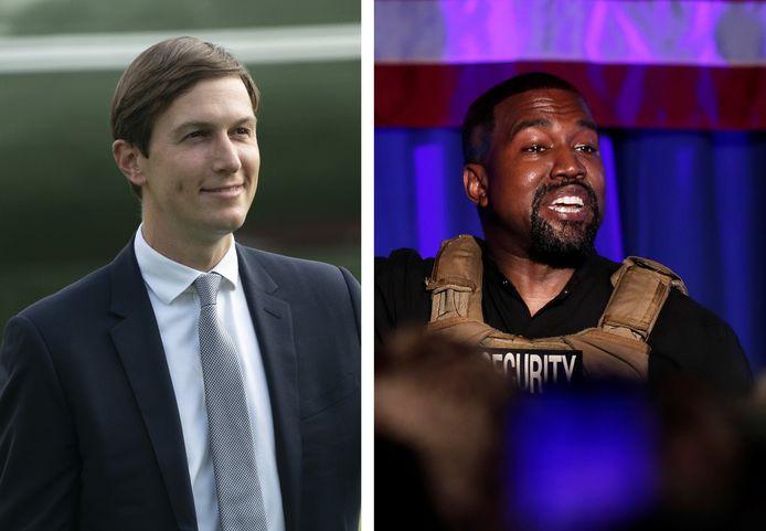 Jared Kushner et Kanye West (montage 7sur7).