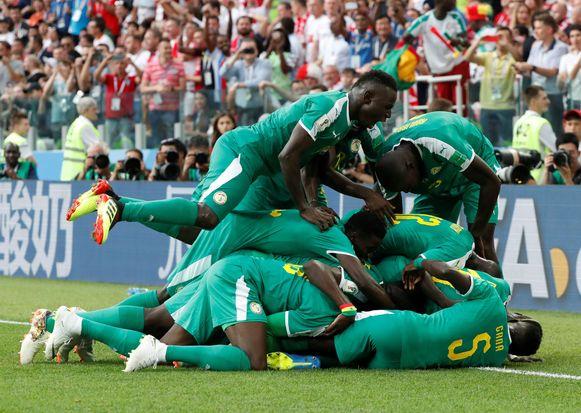 En de eerste Afrikaanse zege op dit WK leverde natuurlijk dolle taferelen op.