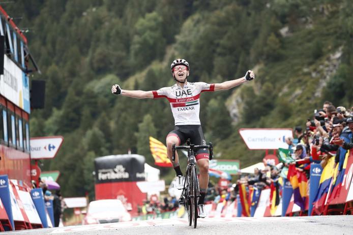 De 20-jarige Pogacar is een van de verrassingen deze Vuelta.