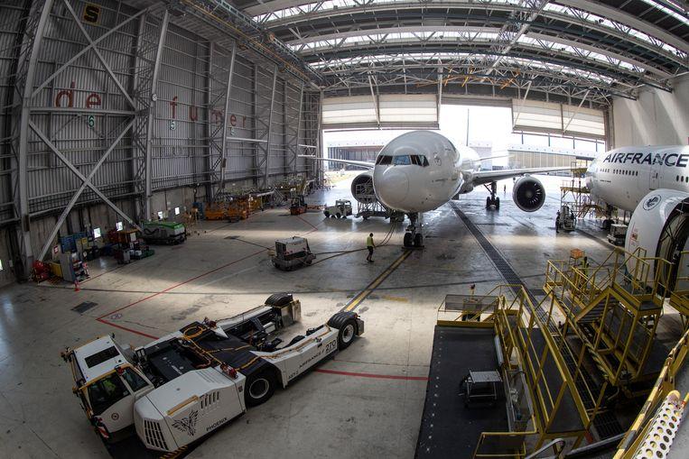 Vliegtuigen van Air France-KLM. Beeld Hollandse Hoogte / AFP
