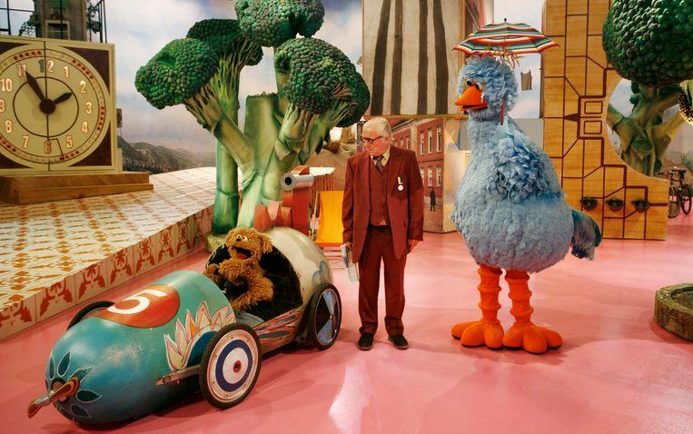 Tommie, Aart Staartjes en Pino in de kinderserie Sesamstraat van de NTR. Beeld ANP Kippa