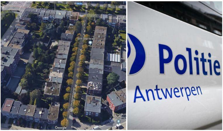 De verdachte werd onder vuur genomen in de Keizershoevestraat in Wilrijk.