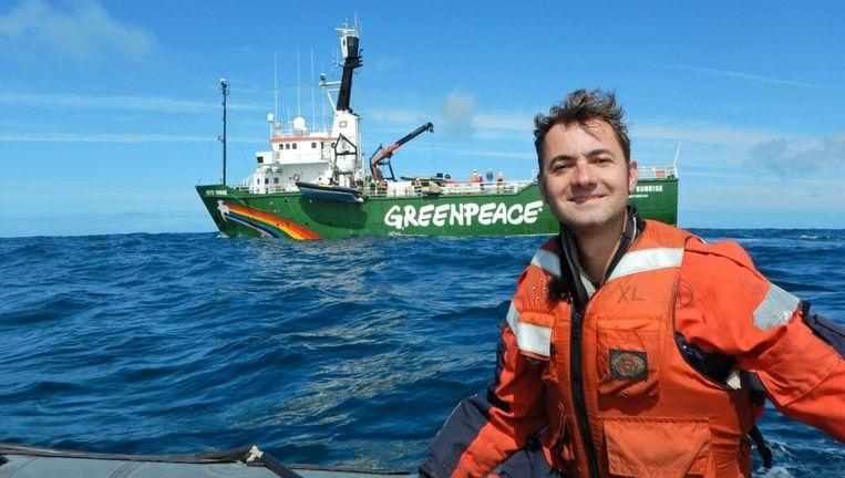 Pavel Klinckhamers is campagneleider Oceanen bij Greenpeace. Beeld