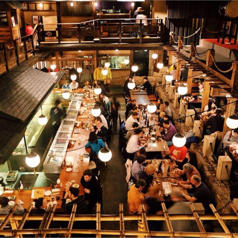 Restaurant Gonpachi in Tokio, waarin de scène uit Kill Bill is opgenomen. Beeld