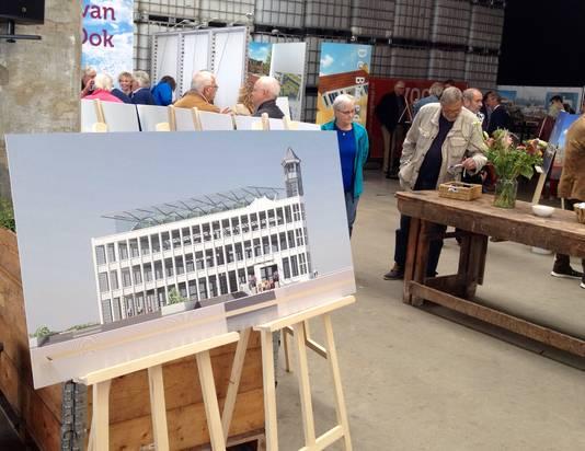 Plannen voor de Timmerfabriek waren zaterdag ook te zien tijdens de Woonbeurs van de gemeente Vlissingen