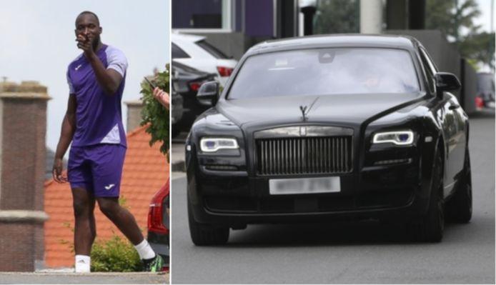 Dans l'attente de son transfert vers Milan l'été dernier, Romelu Lukaku était arrivé au complexe d'entraînement du Sporting d'Anderlecht au volant de cette Rolls Royce.