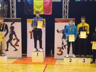 Schermer Leandro (15) hakt volwassen tegenstanders in de pan en wordt Belgisch Kampioen U20