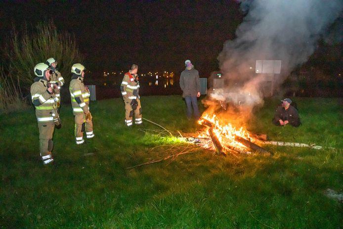 De Amersfoorters mochten het vuurtje laten branden.
