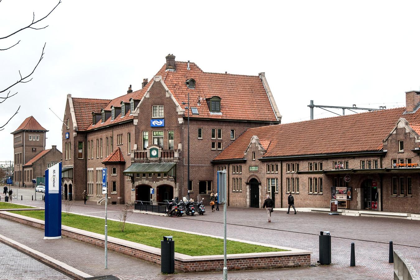 Het station in Deventer.