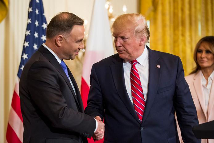 Donald J. Trump en de Poolse president Andrzej Duda.