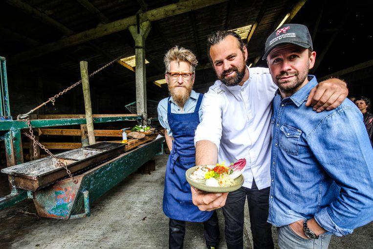 Nicolas Decloedt, Willem Hiele en Harm Rademan (op de foto in plaats van chef-kok Sean Uytterhaegen die ontbreekt).