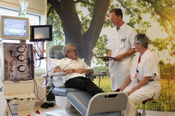 De nieuwe 'groene' ruimte voor nierdialyse in het Spijkenisse Medisch Centrum.