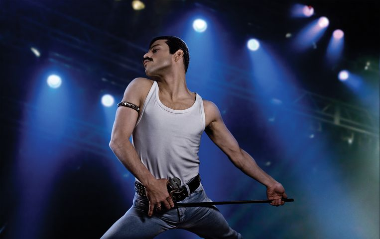 Rami Malek als Freddie Mercury in Bohemian Rhapsody. Beeld