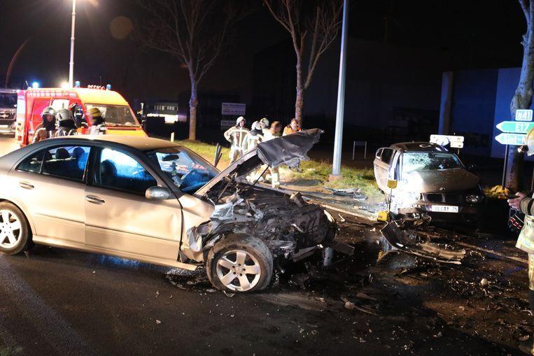 Bij het ongeval vielen vier gewonden.