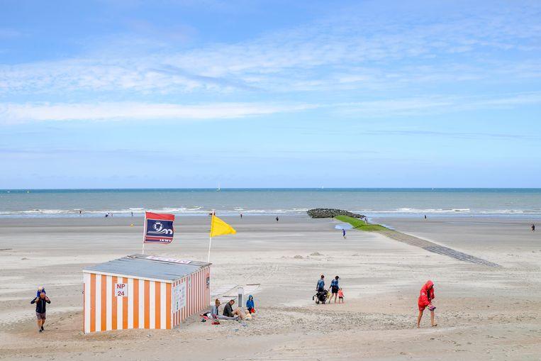 Het strand van Nieuwpoort