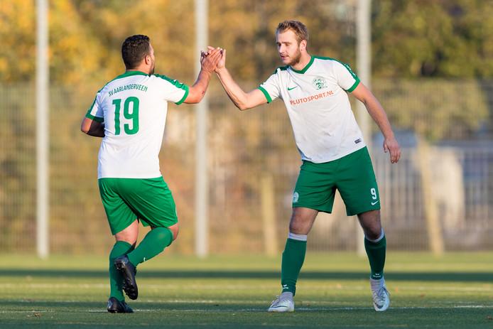 De voetballers van SV Aarlanderveen zijn er nog niet in geslaagd om kampioen te worden. (Archieffoto)