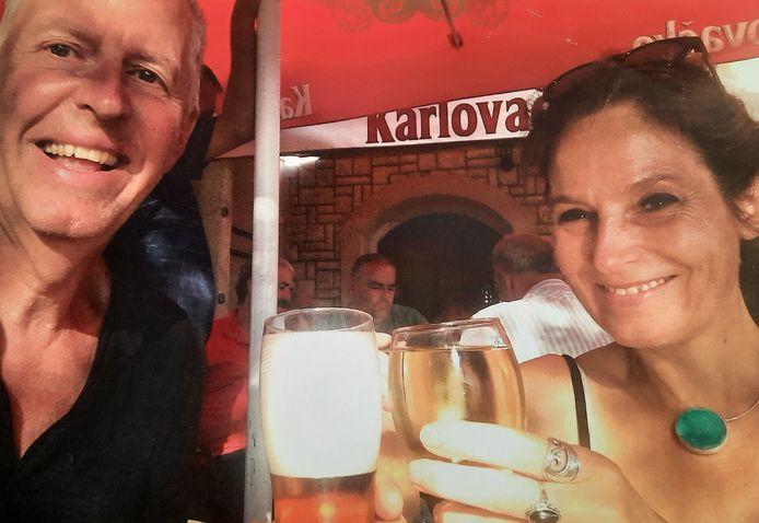 Bauke Schut, op vakantie met zijn nieuwe vriendin Anne Tuk.