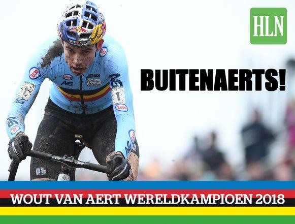 Wout van Aert is voor de derde keer in zijn carrière wereldkampioen veldrijden.