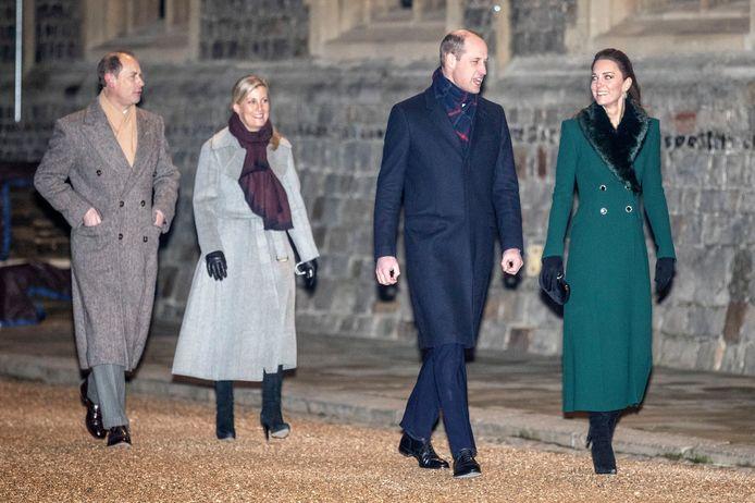 Kate Middleton, le prince William, le prince Edward et son épouse Sophie de Wessex.