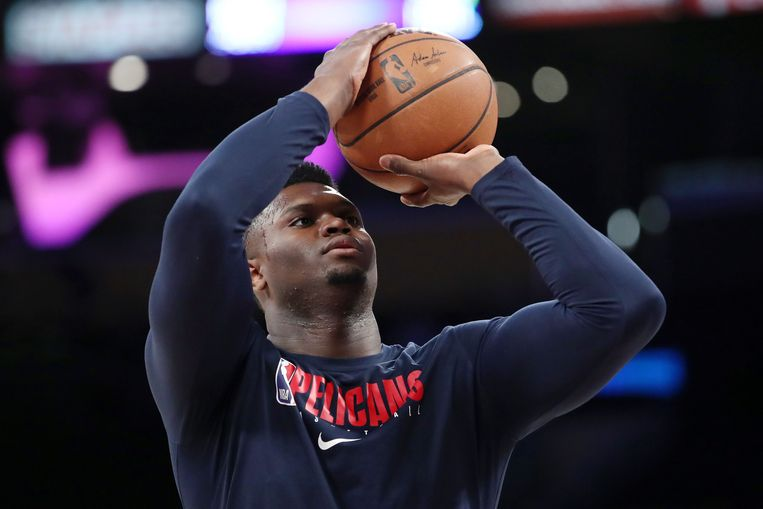 Zion Williamson van de New Orleans Pelicans.