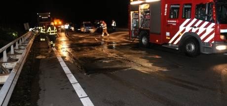 A12 in de richting van Arnhem deels afgesloten vanwege ongeluk bij Zevenaar