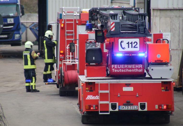 De hulpdiensten kwamen ter plaatse na de explosie.