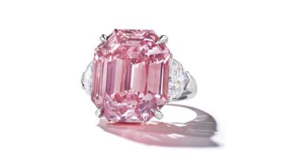 Fancy Vivid Pink Diamond breekt record