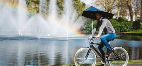 Aju paraplu voor Bredase fietsuitvinding