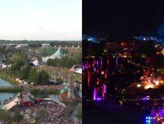 Tomorrowland vanuit de lucht: overdag versus 's nachts
