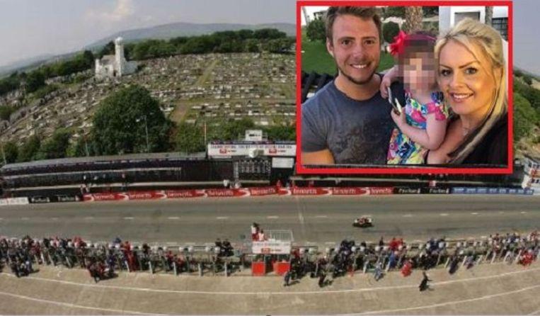 De Isle of Man TT eiste al aan 258 coureurs het leven. Inzet: Daley Mathison met zijn gezin.
