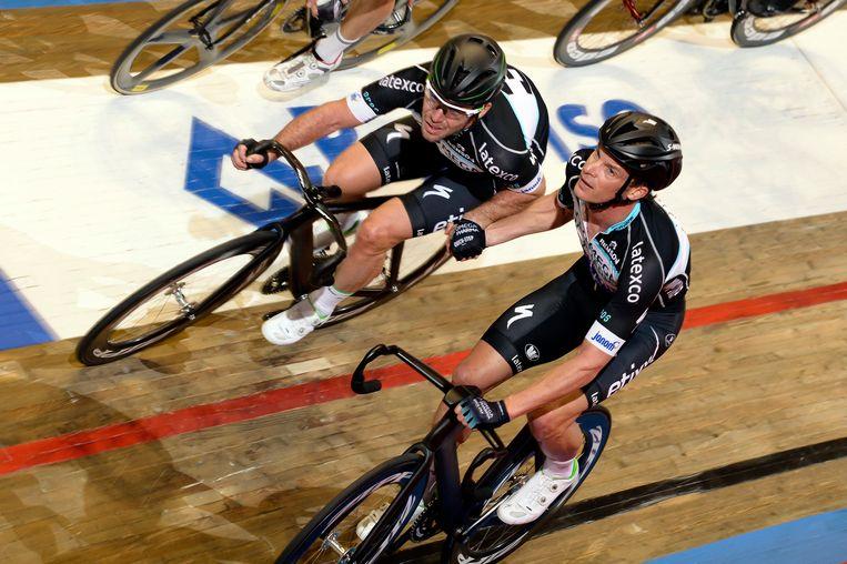 Iljo Keisse en Mark Cavendish.