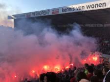 IN BEELD. Tien supporters aangehouden bij Antwerp - Club Brugge en massa vuurwerk in beslag genomen