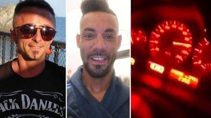 """""""We rijden 220 km/u"""": vrienden filmen zichzelf terwijl ze hun dood tegemoet rijden"""