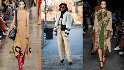 'Saai beige' was dé trend op en naast de catwalk tijdens Londen Fashion Week: zo draag je de kleur op frisse manier