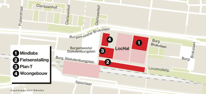 In april begint de bouw van kantoorgebouw Plan-t en de fietsenstalling. In de herfst volgen woontoren De Brabander en MindLabs.