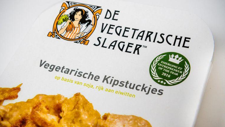 Kipstuckjes van de Vegetarische Slager. Beeld null