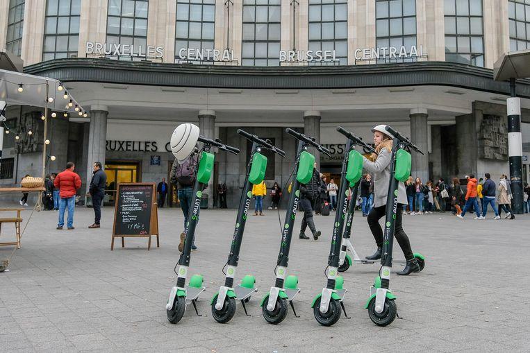 Onder meer in Brussel zijn elektrische deelsteps heel populair.