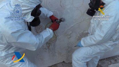 Spaanse politie vindt 752 kilo crystal meth in blokken marmer van 25 ton uit Mexico